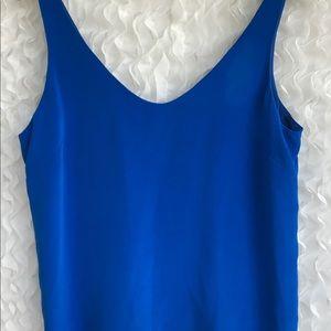 J Crew Cate 100% Silk Cami Royal Blue Lined Sz 12